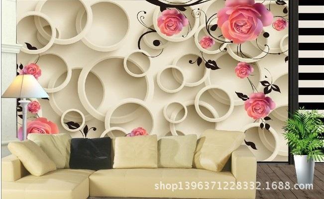 Goedkope Slaapkamer Decoratie : 3d behang decoratie grote muurschildering slaapkamer tv achtergrond