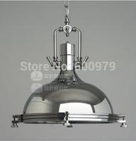 American vintage loft chain pendant light industry style lamp polished chrome (dia 40cm*H 40cm)