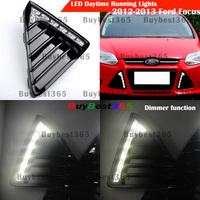 White LED DRL Daytime Running Light Fog Lamp cover for Ford Focus Zetec S ECOnetic 2011 2012 2013