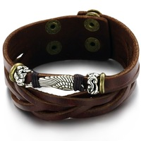 Accessories Vintage Multi-Layer Genuine Leather Bracelet Male Casual Bracelet Cowhide Bracelet Bangle