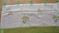 Green embroidered   Maple leaves Kitchen /Bathroom Curtain  Tire   45x160cm   18x62inch