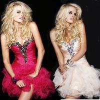 Vestidos De Festa Longo 2015 sexy puffy skirt fashion prom mini evening dress plus size Formal Dresses Party Dress Abendkleider
