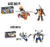 Free shipping!KAZI 8015/8016 helicopter robot series Self-locking bricks children DIY building blocks assembling toys gift