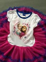 Girls summer cartoon dress  kids elsa anna children Clothes dress  baby clothing