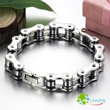 Hot Fashion Bike Bicycle Chain Bracelet Stainless Steel Men Bangle Korean Style Bijoux Brazalete Wedding Marriage