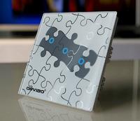 G1 wireless remote control wall light switch, 3 ways crystal glass wireless switch