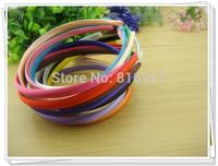 100 piece per lot 10mm Headbands Satin Headbands Children Headbands hair band  20 Colors Free Shipping