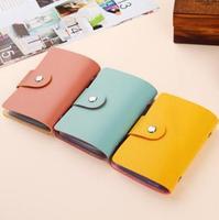 2014 Fashion Cute Multi Colors PU Leather 24pcs ID Credit Card Holders Cases  SU036