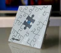 G1 wireless remote control wall light switch, one way crystal glass wireless switch
