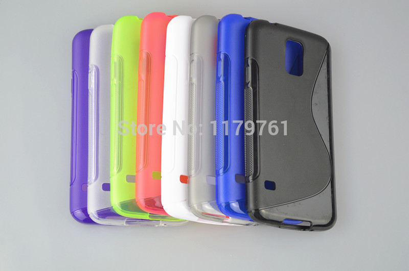 ONECASE Hot New Line Clear Crystal Soft TPU Gel Case Cover For Samsung Galaxy S5 S5 i9600 Free shipping(China (Mainland))