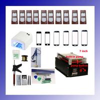 Full Set(11Mold+12Glass+cutting Wire+Lamp+Glue Gun+2Glue+2Remover) LCD Separator Machine Built-in Pump