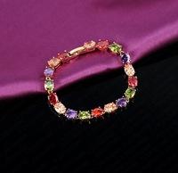 Factory Direct AAA Zircon 18K champagne gold plated bracelet opal bracelet 0009