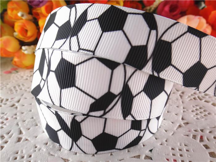 2014 new arrival 7/8'' (22mm) football printed grosgrain ribbons sports ribbon DIY hair bows 20 yards WQ14061410(China (Mainland))