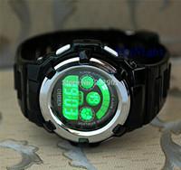 2014 New  Fashion OHSEN Mens Women Watch Black Color Sport Digital 7 Color Light Funny Sport WristWatch Watch 12pc/lot