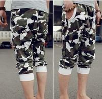 Men camouflage pants Plus size Men casual pants New 2014 Hip hop pants Casual Men capri pants Fashion Harem sweatpants BG-27