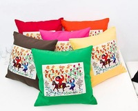 10PCS 45*45CM Free Shipping Chinese traditional embroidered cute pillow cover Cushion cases 7 colors in Free shipping