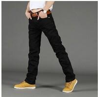 Men's wear cowboy new Black men's jeans feet pants straight canister slacks 28 to 38