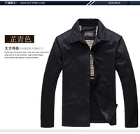 High Quality Jacket for Mature Men New 2014 Fashion #8198, Spring Autumn Cotton Casual Business Coat Outdoor jaqueta