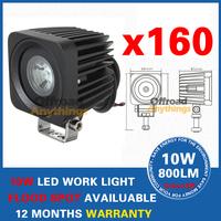 160pcs 10w cree offroad tractor trailer truck 10-30V LED 10W led off road work lamp lights 12V/24v 10W cree work light