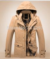 Brand new designal fashional 100%cotton winter coat men,winter coat jacket men,trench coat men free shipping