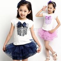 Peppa Meninas Vestir 2014 New Kid's Lace Summer Party Dress 4-14yrs Girl's Tutu Princess Toddler Lovable Dresses 3 Color 8920