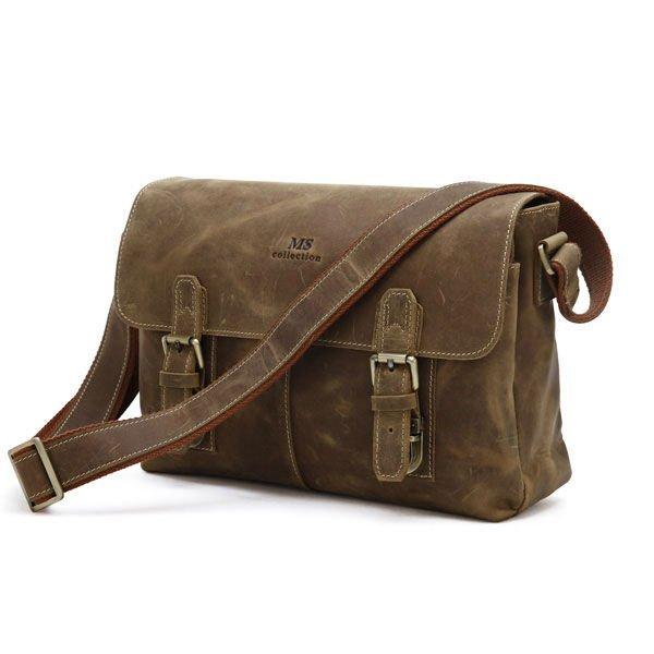 Factory Directly 100% Genuine Leather JMD Vintage Men's Brown Handbag Messenger Bag Laptop Briefcase #6002B(China (Mainland))