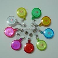 90pcs 9 Colors Mix Transparent Color Non-Swivel Clip Retractable Badege ID Card Holder