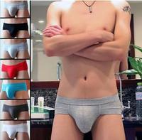 2014 Bamboo Fiber Men's briefs soft Modal low-waist  briefs sexy low-waist underpants U convex  underwear