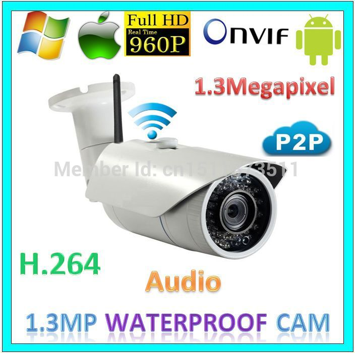 960p Full HD wifi p2p Security Camera CCTV System Audio Wireless 1.3MegaPixel Network IP Surveillance Outdoor Rcordable Webcam(China (Mainland))
