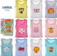 free shipping  2014  cartoon baby vest sleeveless clothes infantil toddler boys girls summer new cotton T-shirt