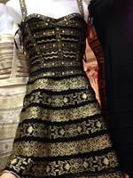 2014 New arrival Women's gold and black foil strap Bandage Dress HL  Evening Dresses HL dropship and wholesale