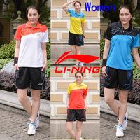 Li-Ning sportswear Women , lining lady Jerseys , tennis clothes , badminton women T-shirts  (one set sell )