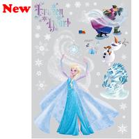 Origin: Korea New 2014  Hot Sale Frozen Wall Stickers Movie Decal Home Decor Art Kids /Nursery Cartoon Frozen  Size 50*70cm