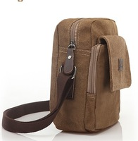 Hot Sale Casual men canvas small shoulder bag vintage man Mini small messenger bag