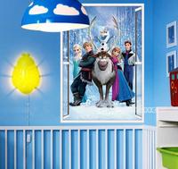 New 2014  Hot Sale Frozen Wall Stickers Movie Decal Home Decor Art Kids /Nursery Cartoon Frozen Poster Wall Decals Size 50*70cm