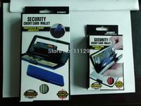 Free Shipping 200pcs Larger Aluminum Wallet As Seen On TV Aluma wallet Credit Card Holder Cash & Purse