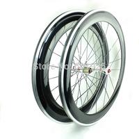 60mm Front 80mm Rear Alloy Carbon Wheelset Clincher 20H/24H Road Bicycle Wheels 700c 3K/UD Weave Novatec Hubs Pillar Spokes