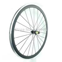 700C Carbon Wheels 38mm Clincher Road Bike Wheels Alloy Brake Surface Carbon Wheelset Powerway R13 Hubs CN Aero 424 Spokes