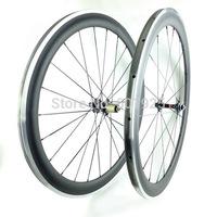 700c Carbon Alloy Wheelset Clincher 50mm Road Bike Wheels Alloy Brake Surface UD Matt Novatec Hubs 271/372 CN Aero Spokes