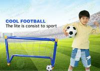 Mini Football Set, 56cm PVC Goal & Football, FREE SHIPPING with Manual Air Pump