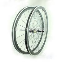 Free Shipping 3K Matte Carbon Aluminum Wheelset Clincher 38mm 700C Carbon Alloy Wheels Novatec 291-SL/482-SL, CN 424 Aero Spokes
