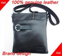 Brand design first layer cowhide man bag 100% real leather shoulder bag messenger bag male genuine leather man briefcase