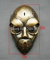 free shipping SLAPSHOT Slap Goalie Shot resin Bronze mask Coppery  Adult prop anime Fancy Handmade Collection of good gift new