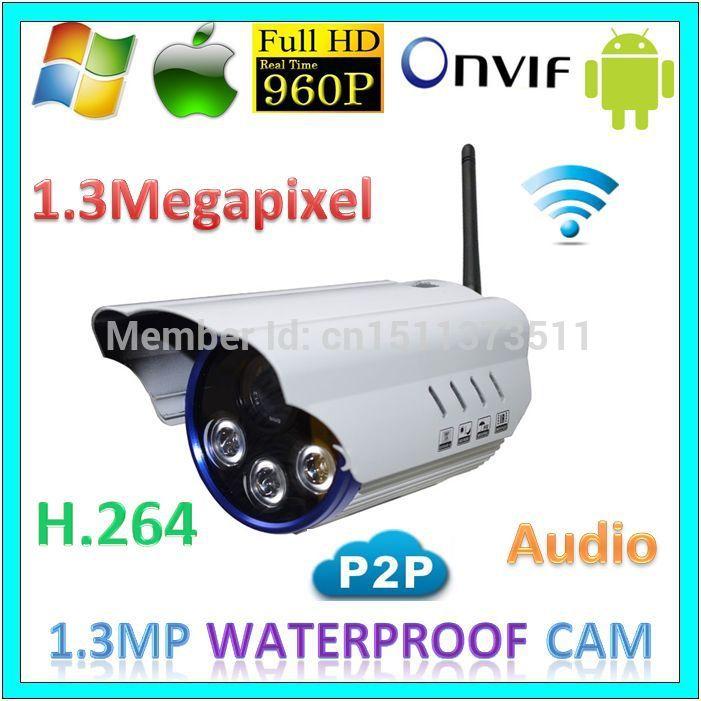 Wireless ip Security Outdoor Camera 960p wifi p2p CCTV System Audio Long Range Surveillance 1.3MegaPixel Night Vision IP Webcam(China (Mainland))