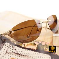 High-end fashion 223 models rimless leopard head co- star models sunglasses men's and women's Anti-UVA Anti-UVB sunglasses