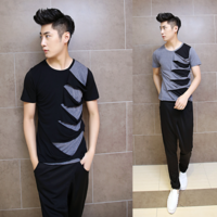 2014 male t-shirt short-sleeve T-shirt fashion personality t-shirt t106 p55