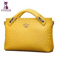 2015 Famous Brand Luxury Fashion Women Handbag Genuine Leather Bag FOXER Women Leather Handbags Shoulder Bags Messenger Tote Bag