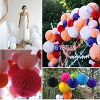 Free Shipping 15pcs 6inches (15cm)Fashion And Cute Designed Honeycomb Flowers Paper  Balls For Happy Kids Birthday Decorations