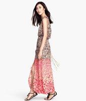 Is the gradient palm pink leopard grain pine waist dress