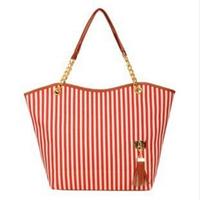 Holiday sale women messenger bags canvas Handbags casual Stripe/fringe Tote Canvas Shoulder  travel Bag ladies clutch bolsas
